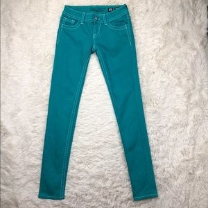 Miss Me Skinny Jeans Peacock Blue size 26